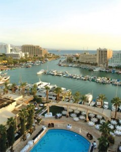 The marina in Eilat, Israel