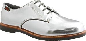 bass silver oxfords