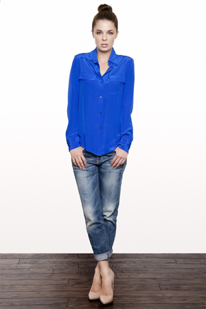 cobalt blue blouse_model
