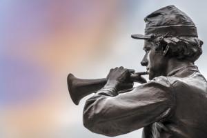 Civil war bugler.