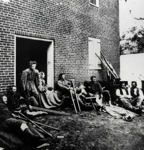 Wounded American Civil War soldiers