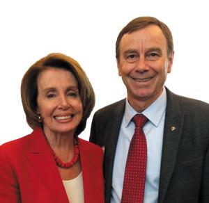Nancy Pelosi and Bob DR CGM ceremony (crop) copy