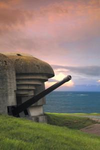 Bunker on the coastline, Gold Beach..