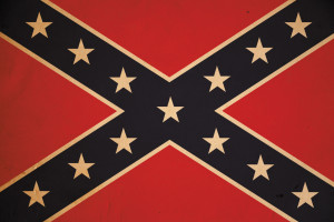 Vintage Confederate Flag Background XXXL