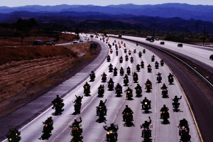BIKERS ON THE HIGHWAY