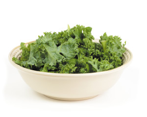 Chopped kale salad in a bowl