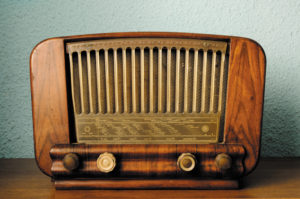 Vintage radio on desk