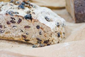 raisin bread in a market
